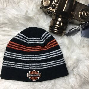 HARLEY DAVIDSON Orange Black White Beanie
